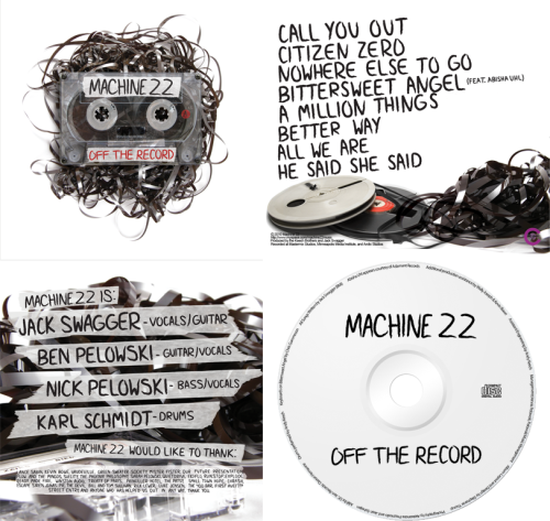 I had the chance to put together the artwork for my good friends in Machine 22. Their debut EP, Off The Record, was released in June on DC Jam Records. This is by far my favorite thing I've ever done.