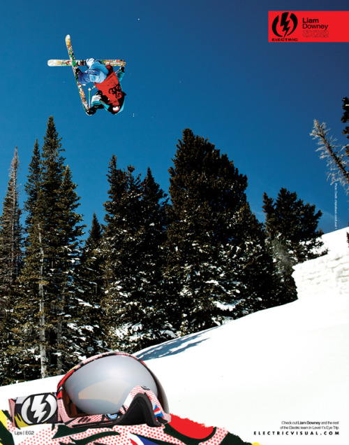 Check out the February issue of Freeskier magazine, I have an ad photo of pro skier Liam Downey for Electric Visual. Since the company began in 2000, Electric has been a major player in sunglasses and goggles in the action sports world, so I was really excited to hear they wanted to use a photo of mine for an upcoming ad. I hope to have the privilege of working with them again in the future.
