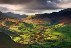 Newlands Valley, Cumbria, England by Adam Burton