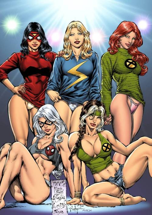 rmonz:  Marvel Girls by Ed Benes