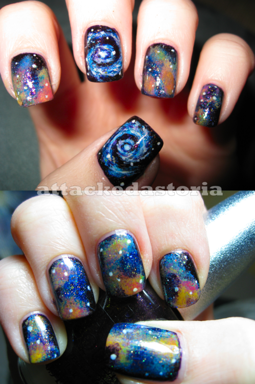 intergalactic nails take two.click-through to visit my blog for larger detail!