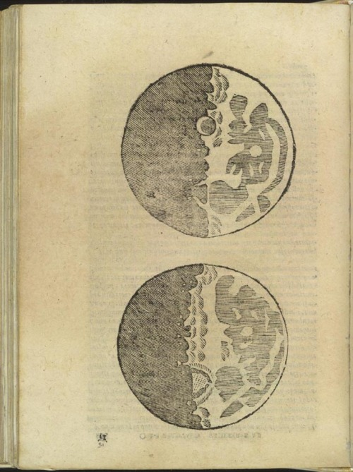 Galileo's first diagrams of the moon