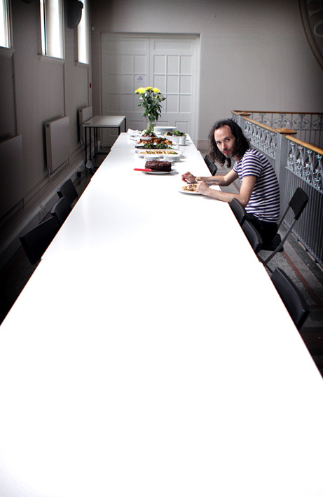 Lunch for 1. James Rhodes refueling whilst filming Sky Arts show Piano Man