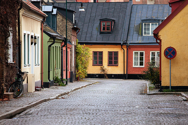 Colorful Street (by Rutger Blom) Lund, Sweden