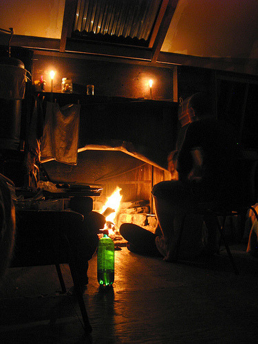 New Years 2010 by the fireplace: In the middle of Rimutaka National Park