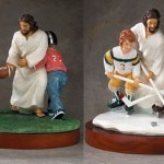 Jesus is My Noseguard: Inspirational Sport Statues