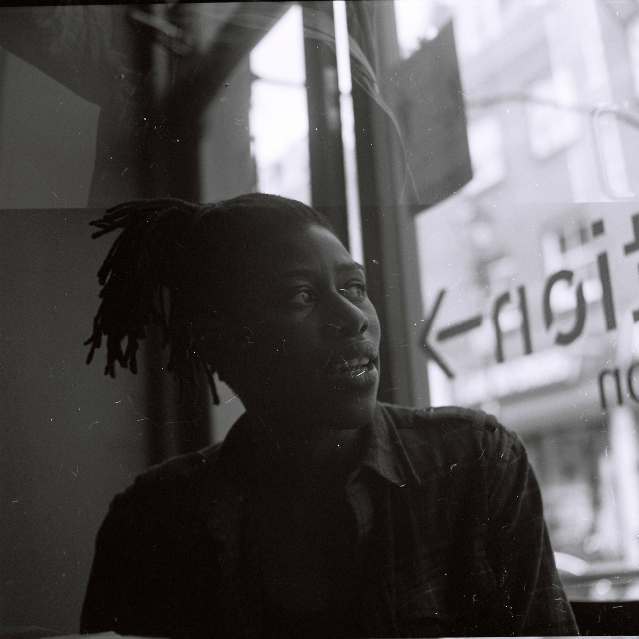 Outtakes: End of the roll.  Denrele, Exmouth Market.  On another front, I pulled my Pentax ME out at a gathering with friends over Christmas. One of the guys caught sight of it, said: Film? Yes. Why? (with an incredulous expression). At the time, I just couldn't articulate a response. Because I like it. That was the best I could come up with.