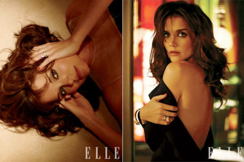 Katie Holmes in Elle: Suri Gives Me Fashion Advice Katie Holmes brings the Va, va, va, VOOM to her Elle magazine photo spread in February's issue. Maybe it's Katie's come hither stare or the backless Tom Ford silk she's wearing — either way, Mrs. Tom Cruise is smokin'. But maybe it wasn't Katie's (or the stylist's) doing. Maybe it was Suri, 4, who made mama so sexy? Full story on StyleList after the jump. [Courtesy of ELLE]