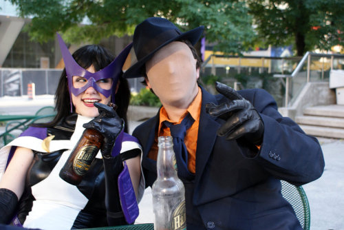 Vigilantism is a downer by dangerousladies on Deviantart  Cosplayers: Jenn and JoshPhotographer: ChristineLaughing hysterically to the side: Emmy
