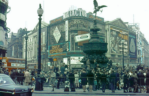 Piccadilly Circus, London, 1960s.
