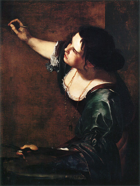 femaleartists:    Self-Portrait as the Allegory of Painting, 1630s, Artemisia Gentileschi (July 8, 1593 - 1653)   The victim of rape at a young age at the hands of her painting teacher, Agostino Tassi, Gentileschi's works were often critiqued by using this event as an automatic translator for her works. Paintings such as this are largely ignored in favor of more violent pieces. These pieces, depicting strong women in positions of aggression toward men, have come to be thought of as a trademark of Gentileschi's work. In her Self-Portrait as the Allegory of Painting, she presents another kind of painting that expresses her identity as a woman and a painter. Many of her paintings have been confused for Orazio Gentileschi's, her father. He also has been accused of painting works and attributing them to her.   Because someone once asked for a more in-depth post about her