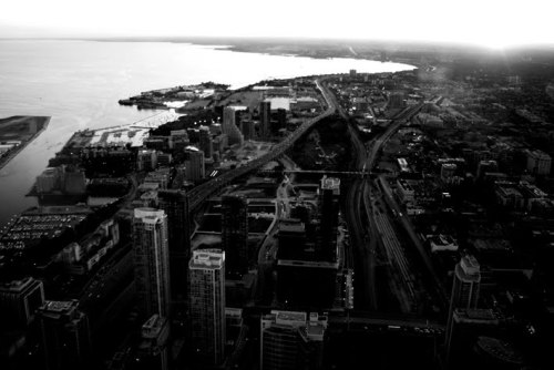 Aerial of Toronto. Click through for photographers site.
