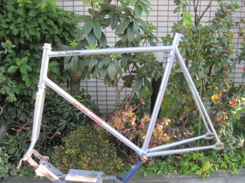 MICHAEL HÜBNER'S NJS GEORAMA   This is allegedly a custom-built frame for German sprint overlord Michael Hübner circa 1991 for his season participating in the Japanese Keirin circuit.  Beauty.  It's for sale!  See more pics and make an offer over at NJS EXPORT.