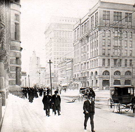 "January 6, 1917: Fifteen inches of snow falls in Milwaukee overnight, marking the first record in the city's memory.  The Milwaukee Sentinel reports, ""The city's most serious problem was milk. One half the usual supply was brought into the center today and… continuance of the storm would spell milk famine tomorrow."""