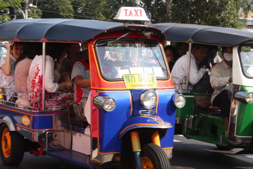 Tuk-tuk, Bangkok. (Scenes from Jacques and Liz's Southeast Asian Adventure)