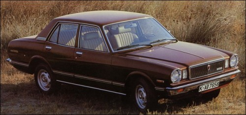 1981 Toyota Cressida  When I was in primary school, in the mid and late 80s, somone's mum had a brown Cressida sedan, much like the one above, but it had a fawn vinyl roof. So far, so awesome. But, it also had faux, chrome, Torque Thrust alloy wheels. Not so much bosozuko as So-Cal. Very Crown Classics.  /via ToyotaOldies.de