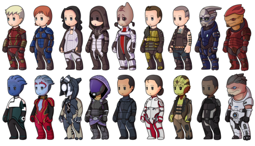 meagan-marie:  Mini Mass Effect by Shoeless Cosmonaut.