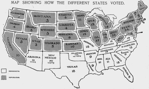 1904 election map, printed in the New York Times. Found at Fast Co. Designs. Since then, the Democrats & Republicans have reversed the polarity of the Mason-Dixon line.
