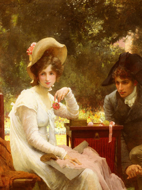 fugaciternelle:  In Love by Marcus Stone, 1907.