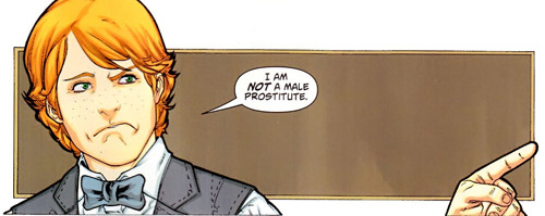 baddie:  Jimmy Olsen is NOT a male prostitute.
