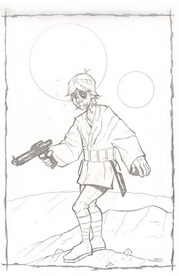 Zombie Luke Sketch // by NATHEN WAHL (via megandear, pencilofdoom)