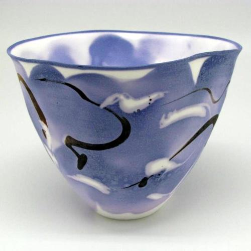 John Shirley: Bone China with soluble salts decoration