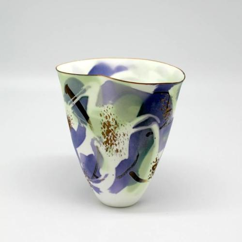 John Shirley: Bone China with soluble salts and lustre decoration