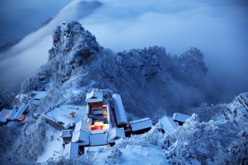 Winter at Wudang Mountain - China