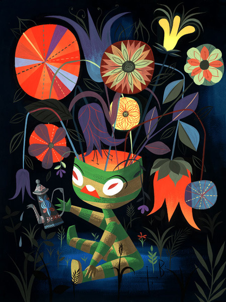 "houseoffallingleaves:  ""Calli Garden"" by Tim Biskup"