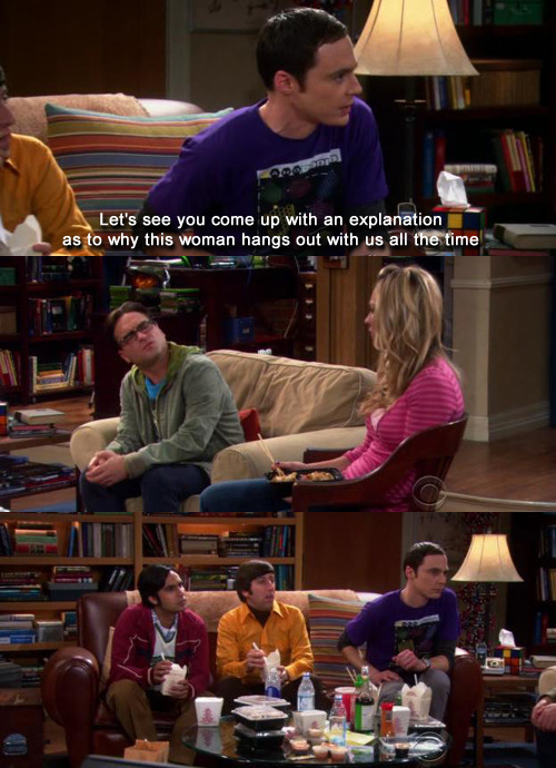 "jonwithabullet:  The Big Bang Theory s04e12 ""The Bus Pants Utilization"""