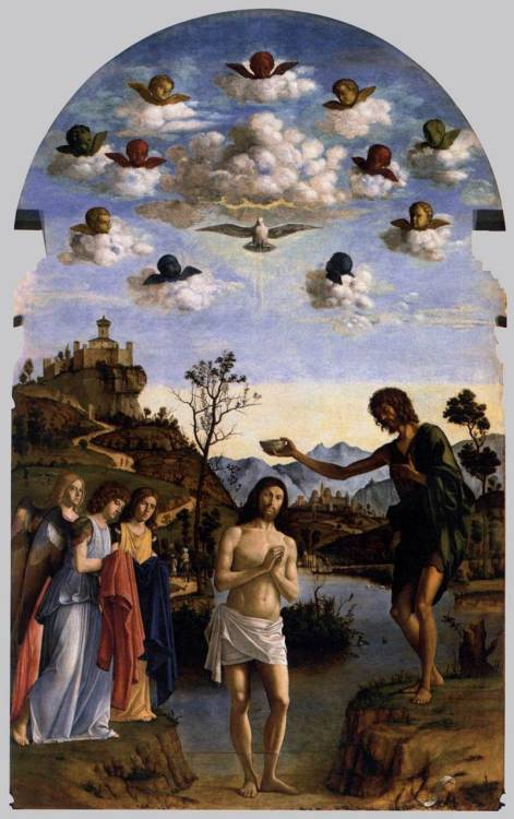 The Baptism of Christ by Cima da Conegliano, 1493-94, oil on panel, 350 x 210 cm, San Giovanni in Bragora, Venice