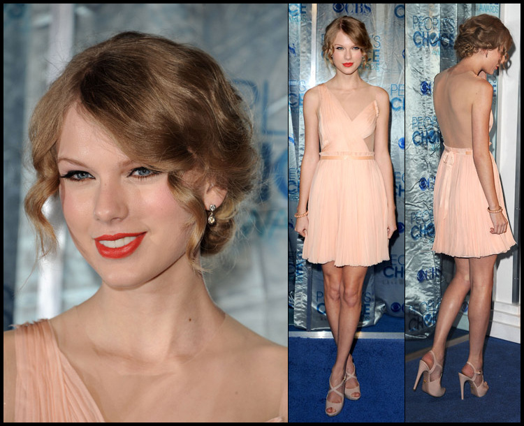 taylor swift in j. mendel | 2011 people's choice awards | los angeles via