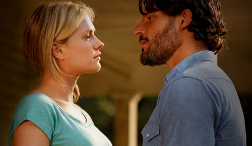 sookie and alcide i love a big beefy scruffy man in a plaid or chambray shirt