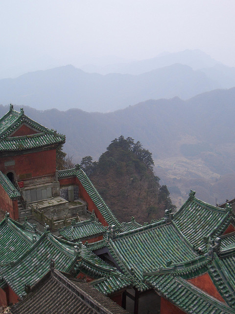 Roofs, Wudang Mountains - China