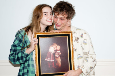 terrysdiary:  Ali and Gubler holding an old Sears portrait.