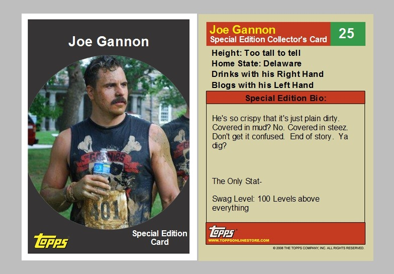 Joe Gannon- Special Edition Collector's Card