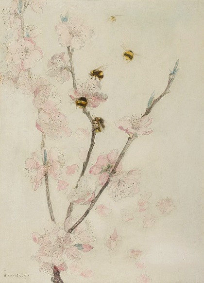 stilllifequickheart:  Katherine Cameron Blossom and Bees Late 19th - early 20th century