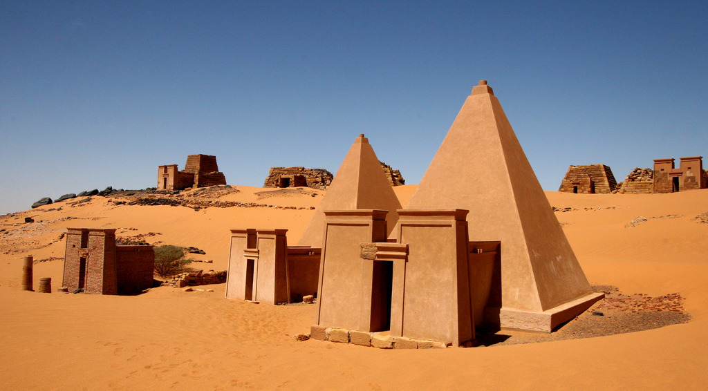 kemetically-ankhtified:  straightmaxin:  ancient nubian pyramids at meroe.  the pyramids they never show u  There are more Sudanese pyramids than Egyptian.