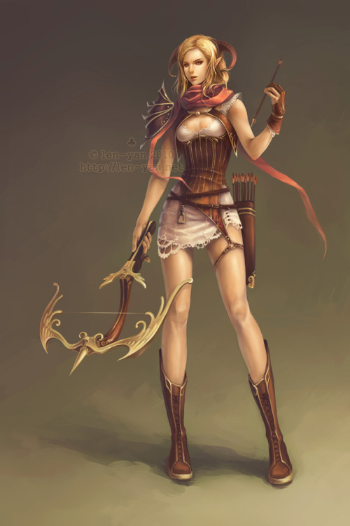 crossbow huntress by `len-yan