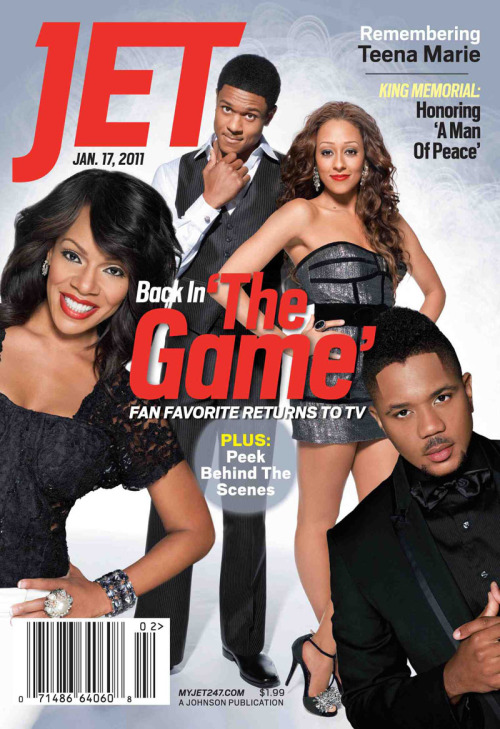 The Cast of The Game Covers Jet Magazine The Game will air on BET next week (Jan. 11) and so much is popping right now, but you know TQC will keep it clean. ;) In addition to Terrence J, 106 and Park host, joining the cast, I understand Meagan Good will also be seen on screen with the sitcom crew we love… Check the clip below from the red carpet at the official screening of Let's Stay Together and The Game. The cast of both shows, Ms. Debra Lee, and the creators of Let's Stay Together were at the affair. Watch as The Game crew are introduced to the young lady that started the FaceBook campaign to get the sitcom back on air. Free is beautiful, love her! <3