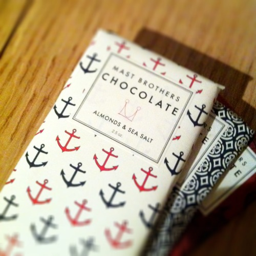 Mast Brothers Chocolate is the best chocolate I've ever tasted. Almonds & Sea Salt is just ridiculously good.