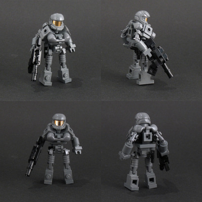 legoexpress:  Halo type action figure (by Larry Lars)