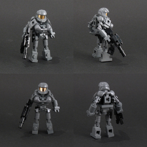 SO F-ING COOL!!! — legoexpress:  Halo type action figure (by Larry Lars)