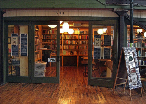 lifeofliterature:  Bookstore at the Packing Plant Building (by Dave Amos)
