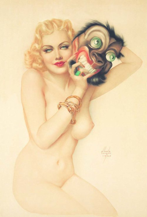 """Beauty and the Beast"" by Alberto Vargas"