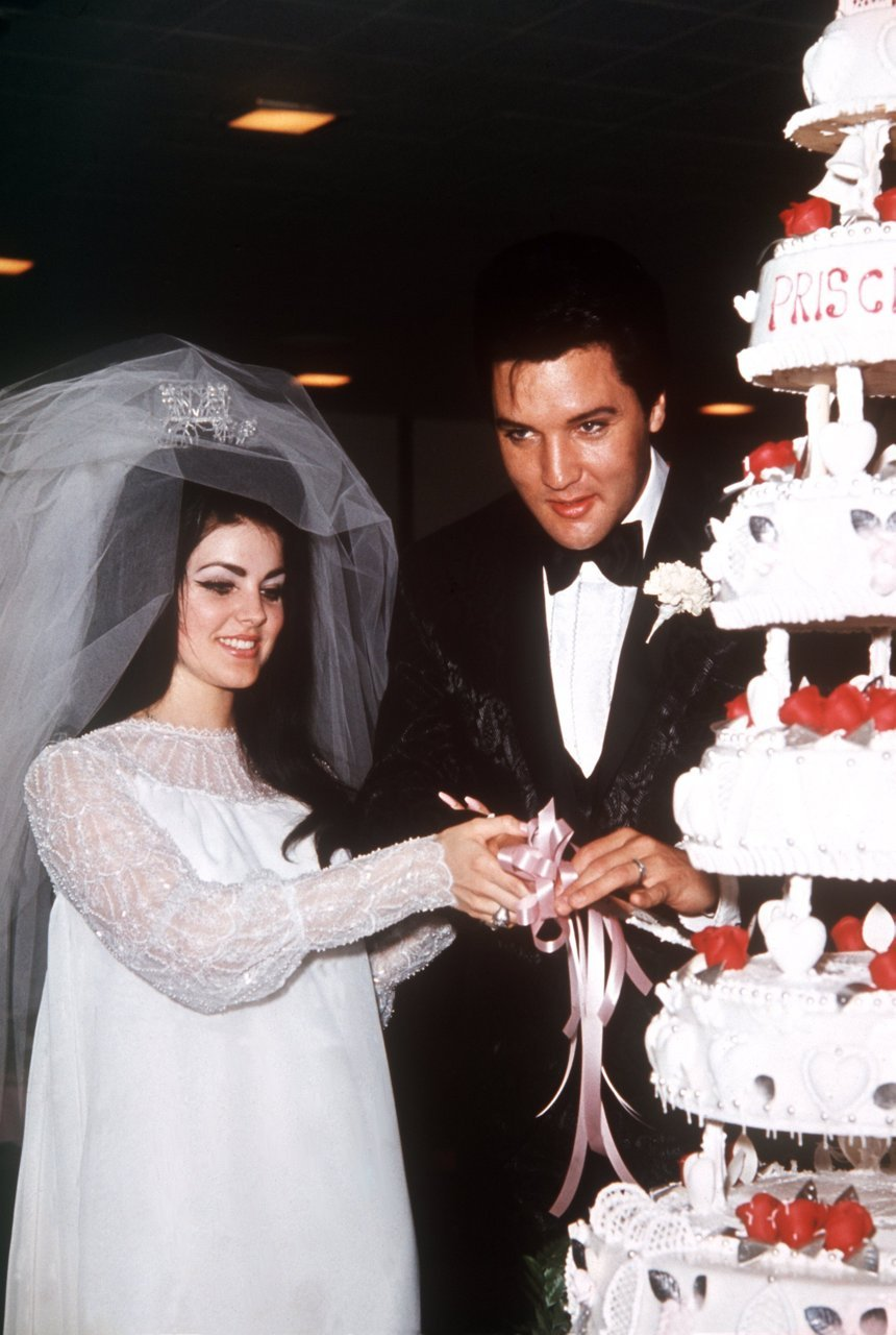 Elvis & Priscilla on their wedding day, May 1st 1967