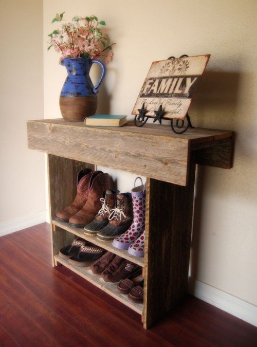 Rustic Recycled Farm House Table for your Entry by TRUECONNECTION