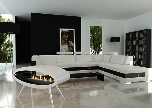 homedesigning:  Ellipse : Contemporary Fireplace by DecoFlame