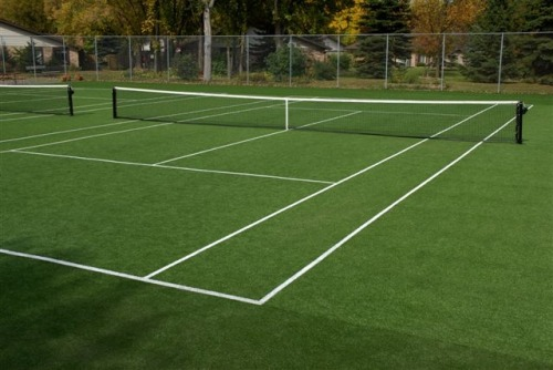 Titanium Dioxide is used to mark the white lines on the grass courts at Wimbledon