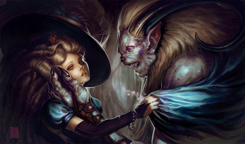 Beauty and the Beast by ArtOfTy. I love the expressions on their faces. Beautiful.